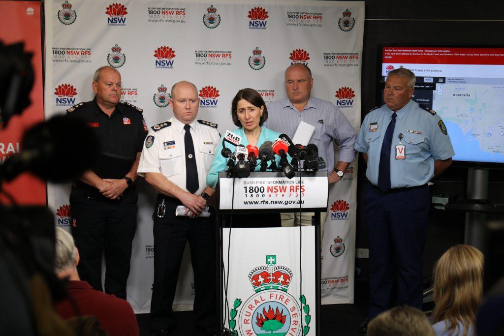 RFS Media Briefing NSW Premier